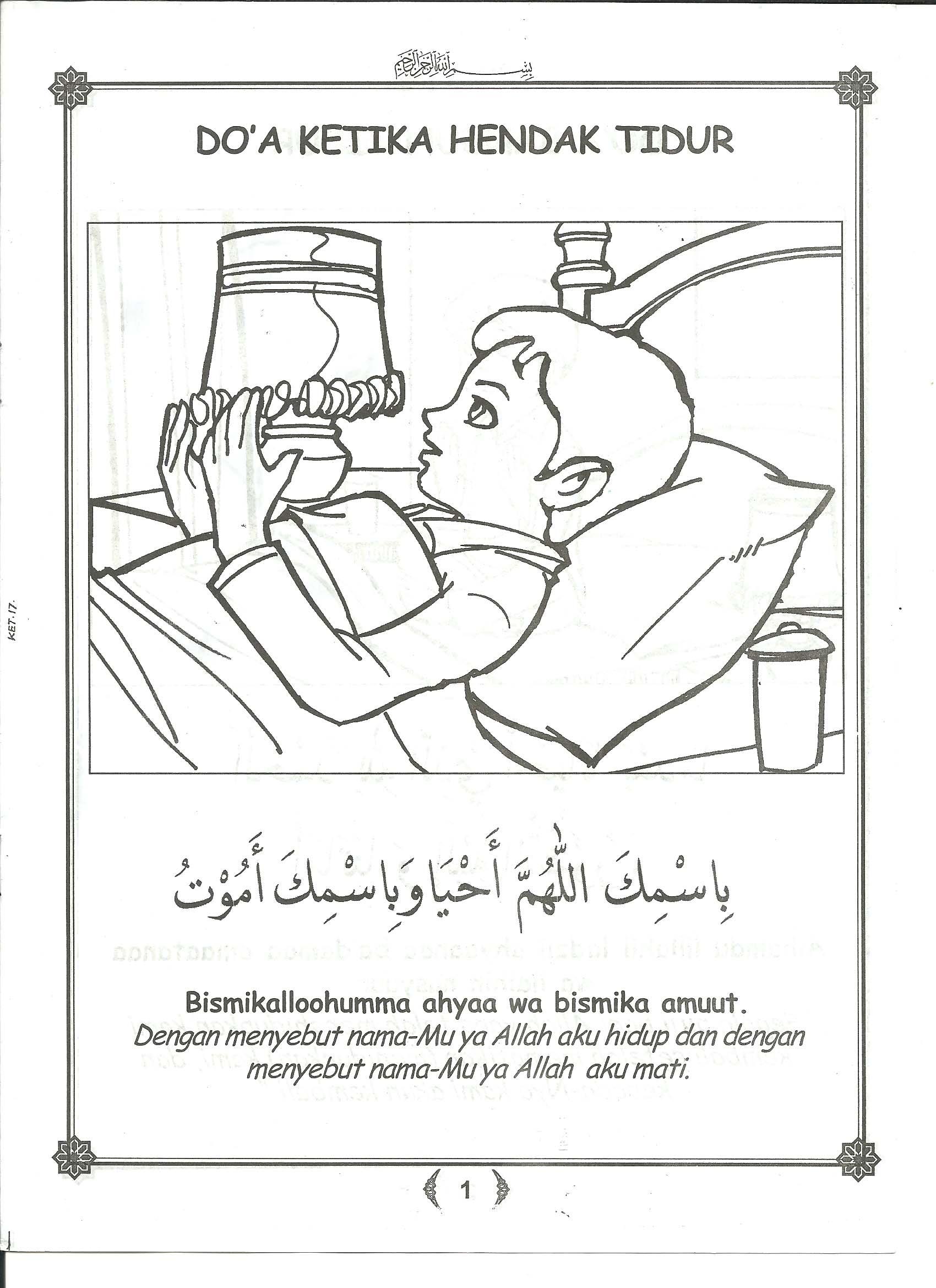 belajar mewarnai doa harian gambar 11